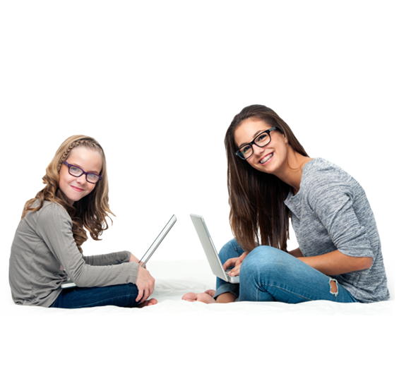 child teen sitting technology